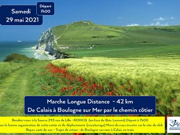 CALAIS à BOULOGNE /mer 29 mai 2021 - 42 km