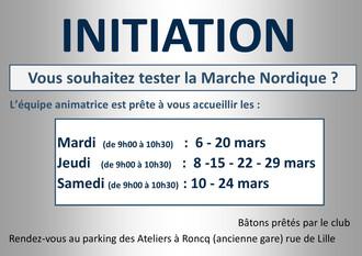 Initiation Marche Nordique