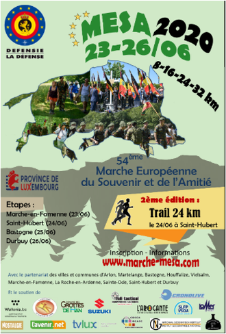 MARCHE EUROPÉENNE du SOUVENIR et de l'AMITIÉ 23-26 juin 2020