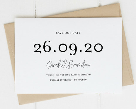 25 x Wedding Save The Date