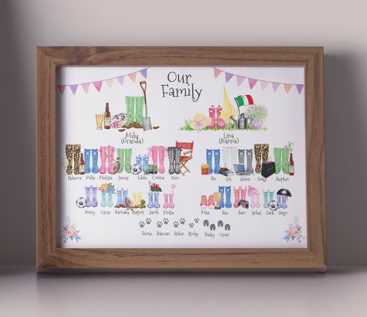 BESPOKE FRAMED FAMILY PRINTS