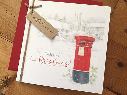 Postbox Christmas Card
