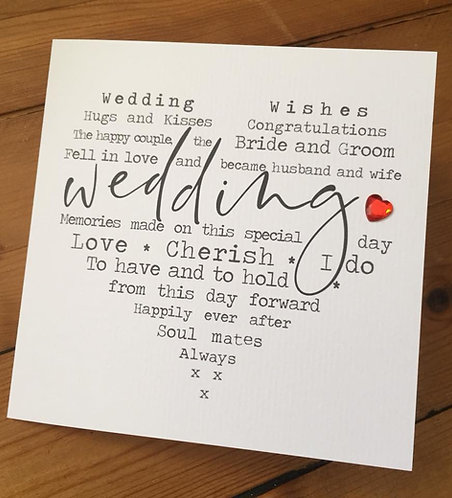 Wedding Heart Card