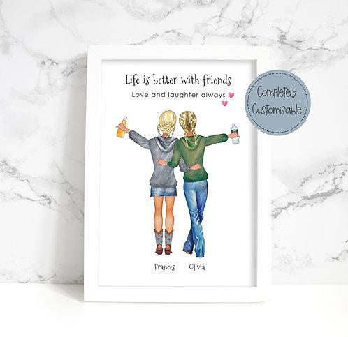 Friends Personalised Framed Print