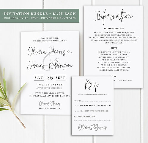 25 x Wedding Invitation Bundles