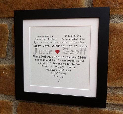 """Framed Word Heart 16"""""""