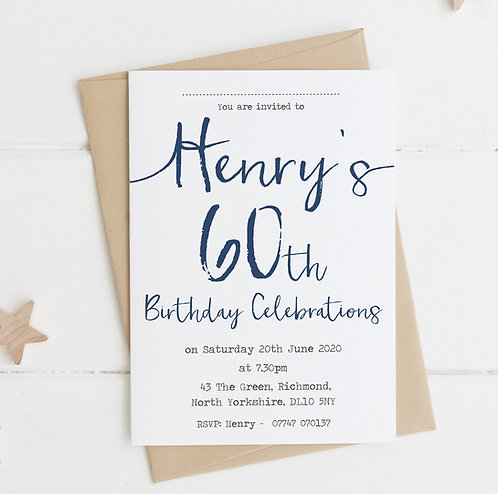 10 x Personalised Party Invitations