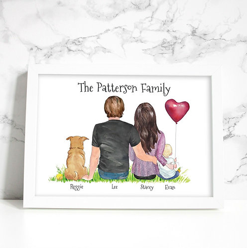 A4 People & Pets Personalised Framed Print
