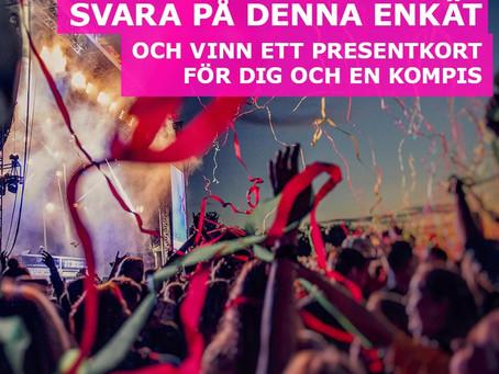 Enkäten om levande musik för ungdomar är nu öppen också på svenska!