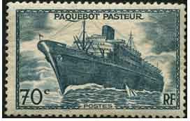 70 c Paquebot Pasteur, n° 502, sans surcharge