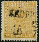 Expertise du 3 skilling jaune de Suède