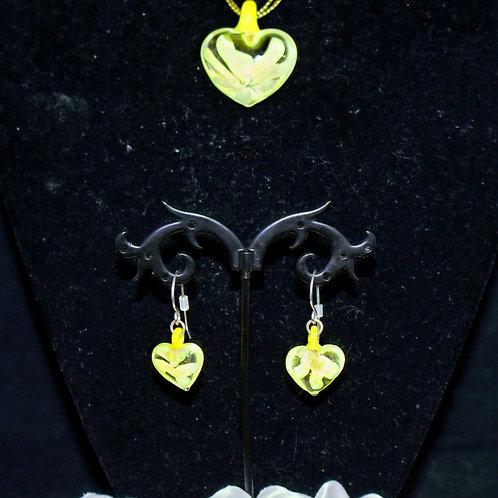 Yellow Flower Heart Set