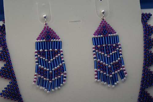 Woven Seed Bead Earrings