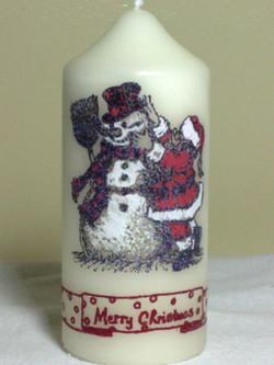 Santas Snowman Candle