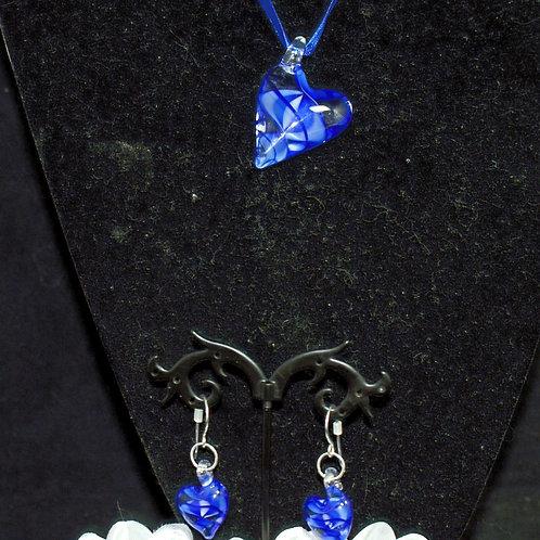 Royal Blue Leaning Heart Set