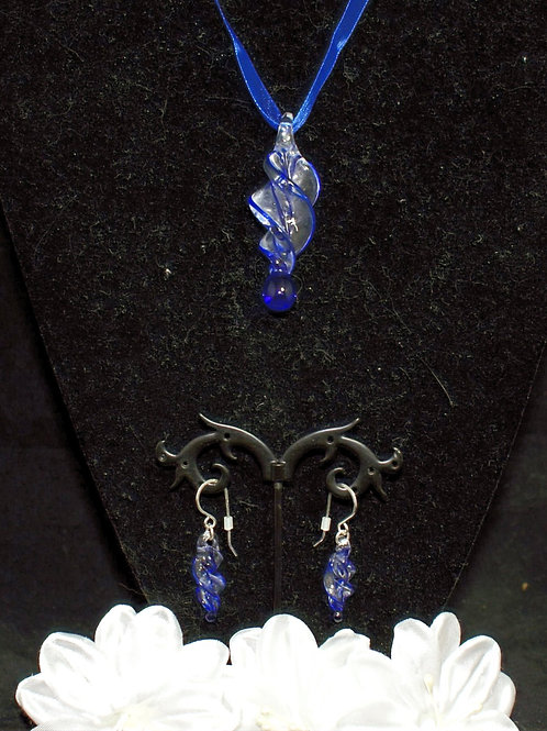 Royal Blue Edged Twisted Set
