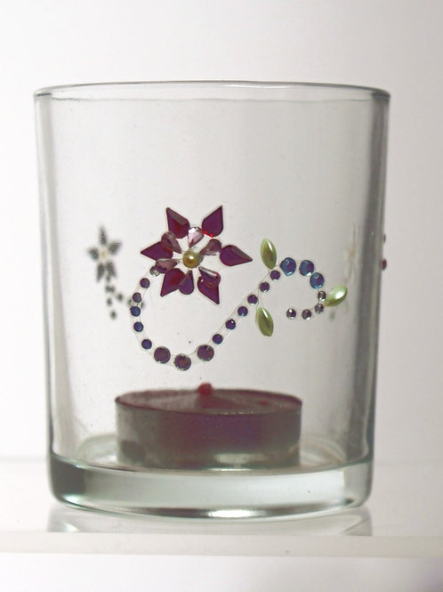 Tumbler with Flower Decals