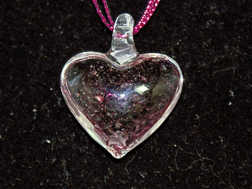Clear Heart with an Aubergine Spiral Centre PENDANT ONLY