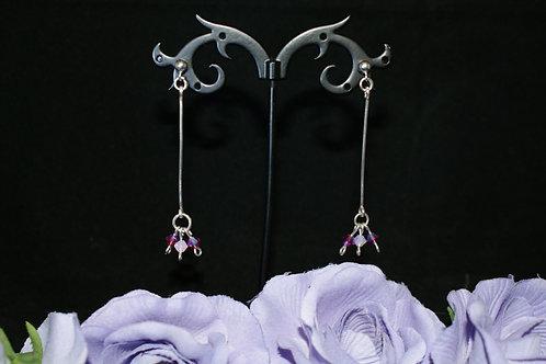 Triple Swarovski Drop Earrings