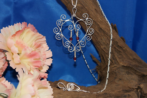 Filigree Love Heart Necklace