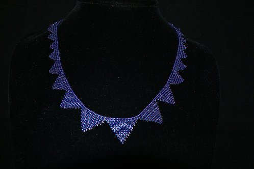 Handwoven Graduating Seed Bead Necklace (Not incl. earrings)