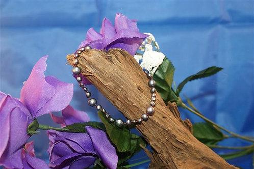 Metallic Look Freshwater Pearl Bracelet