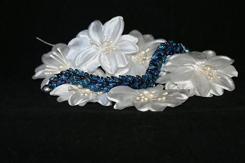 Blue and Purple Kumihimo Snake Bracelet