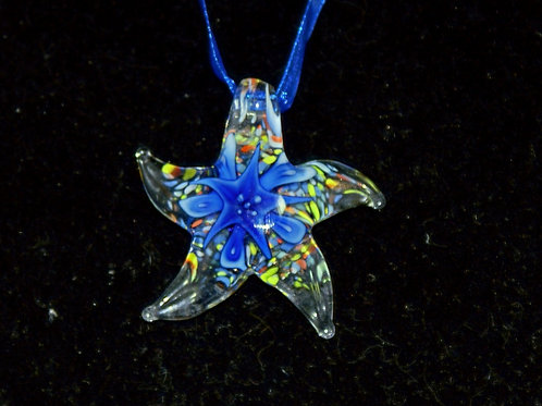 Multi-coloured Starfish PENDANT ONLY