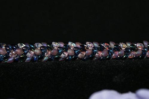 Dusty Pink Kumihimo Snake Bracelet