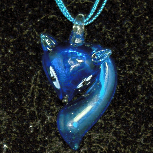 Light Blue Fox PENDANT ONLY