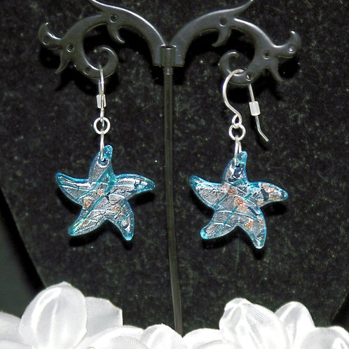 Turquoise Starfish EARRINGS ONLY