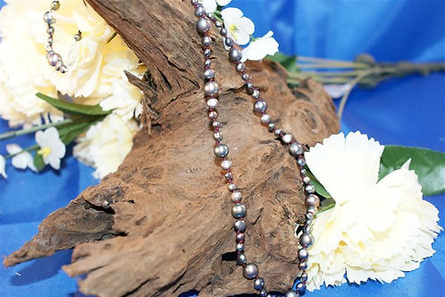 Metallic Effect Freshwater Pearl Necklace