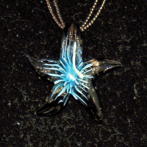 Gold & Turquoise Starfish PENDANT ONLY