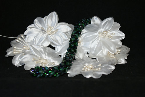 Dark Green Kumihimo Snake Bracelet