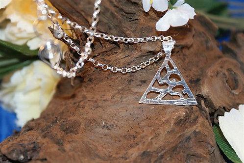 Triangular Fretwork Necklace