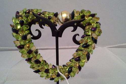 Chartreuse Kumihimo Snake Bracelet
