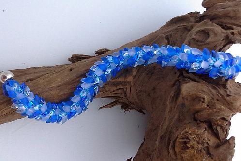 Light Blue Kumihimo Snake Bracelet