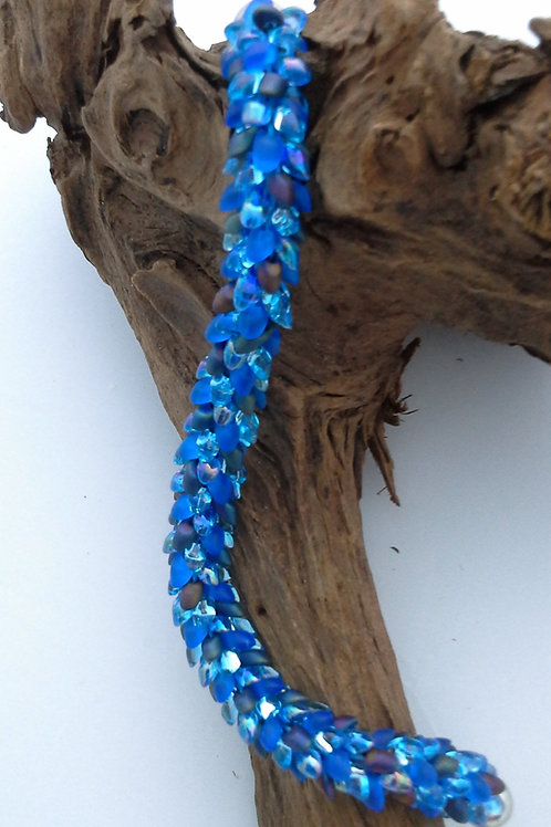 Blue Kumihimo Snake Bracelet