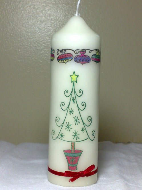 Modern Christmas Tree Candle