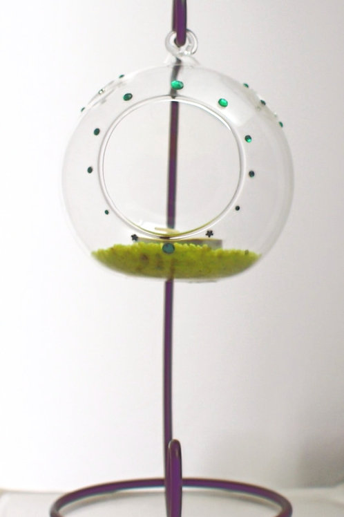 Hanging Glass Bauble with Stand