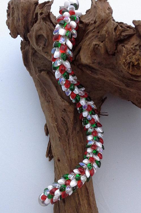 'It's Christmas!' Kumihimo Snake Bracelet