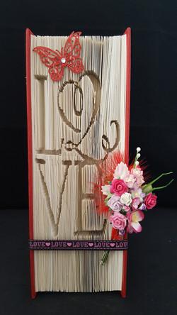 'Love' - Book folding