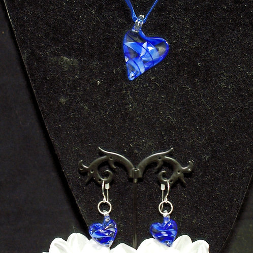 Royal Blue Leaning Heart Set