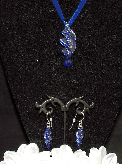 Royal Blue Edged Twisted Set