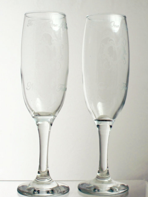 'To the One I Love' Champagne Flutes (Pair)