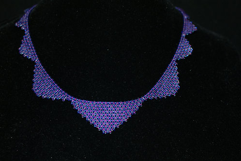 Handwoven Swag Seed Bead Necklace