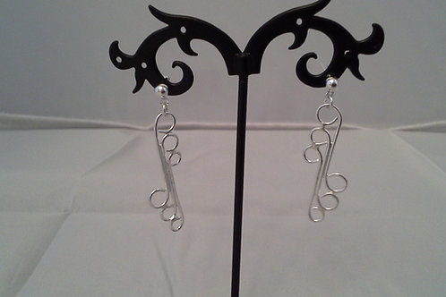 Staggered Triple 'S' Earrings
