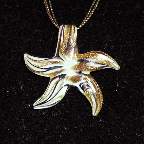 Gold & Black Starfish PENDANT ONLY