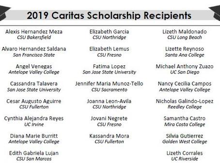 2019 Caritas Scholarship Winners Announced!