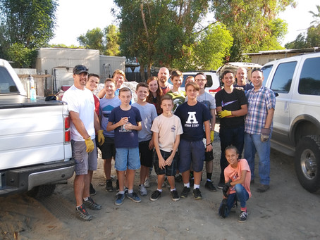 Local Volunteers Team Up with Caritas for a Clean-up Project at Shady Lane